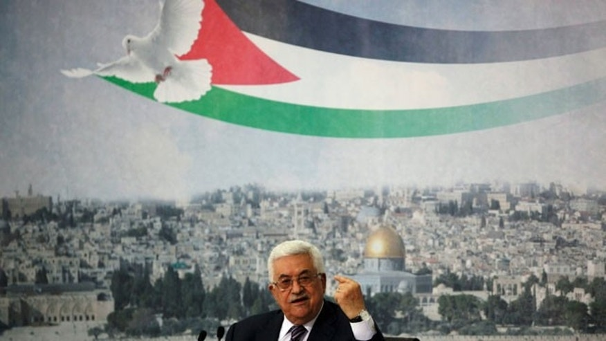 September 16: Palestinian President Mahmoud Abbas gestures as he talks in the West Bank city of Ramallah. Abbas is set to address the U.N. next week, planning to ask the world to recognize a Palestinian state.