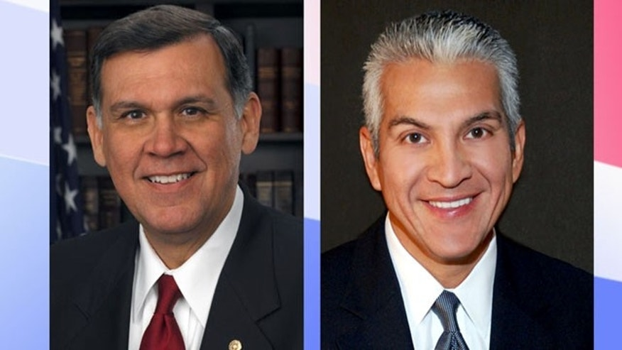 Mel Martinez, left, and Javier Palomarez