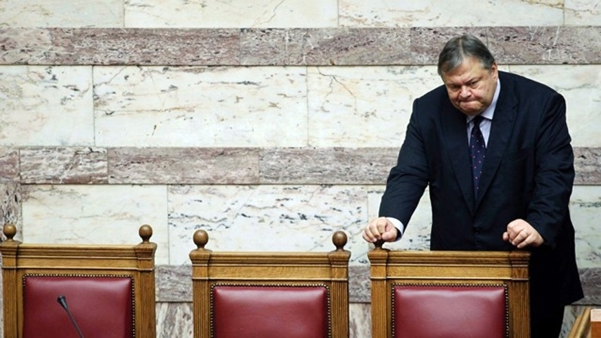 Sept. 20: Greek Minister of Finance Evangelos Venizelos attends a parliament session, in Athens.