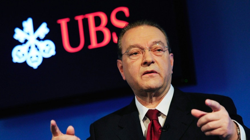 July 27, 2010: Oswald Gruebel, CEO of Swiss bank UBS, speaks during a press conference in Zurich, Switzerland.