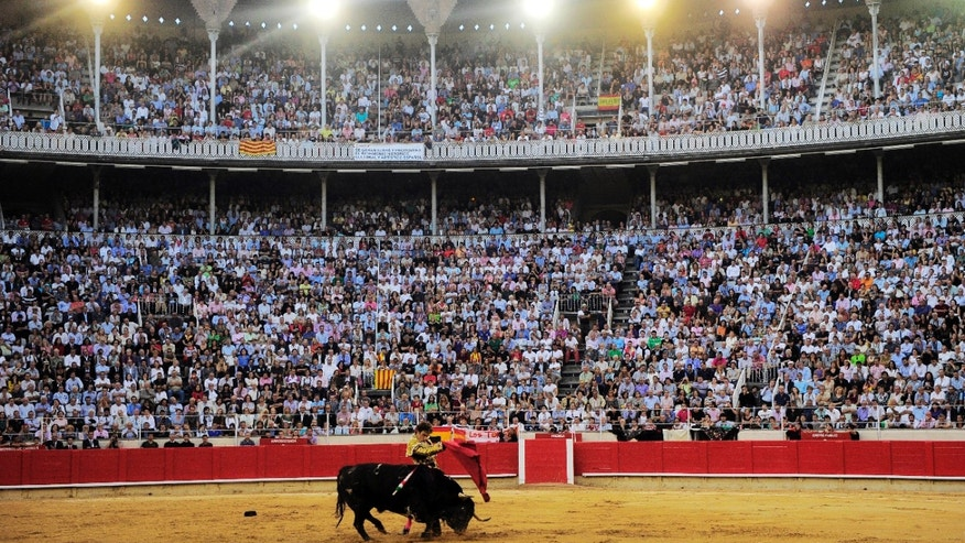 September 25: Spanish bullfighter Jose Tomas performs in the final bullfight to be held in the region of Catalonia at the Monumental bullring in Barcelona, Spain.