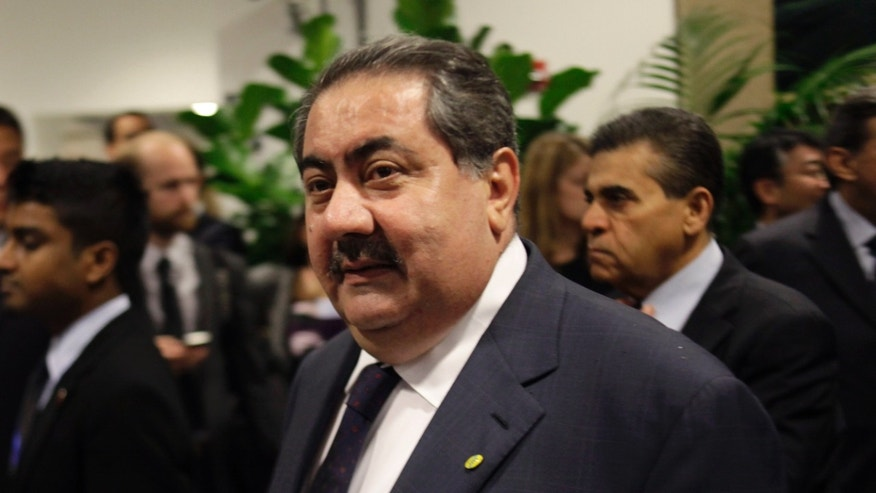 In this Sept. 20, 2011 file photo, Iraqi Foreign Affairs Minister Hoshyar Zebari arrives to a meeting about Libya during the 66th session of the General Assembly at United Nations headquarters. With a year-end deadline for the pullout of U.S. troops looming, Iraq's foreign minister on Tuesday, Sept. 27, 2011 said he believes there will be an agreement with the United States to train his country's military and talks are already under way in Baghdad.