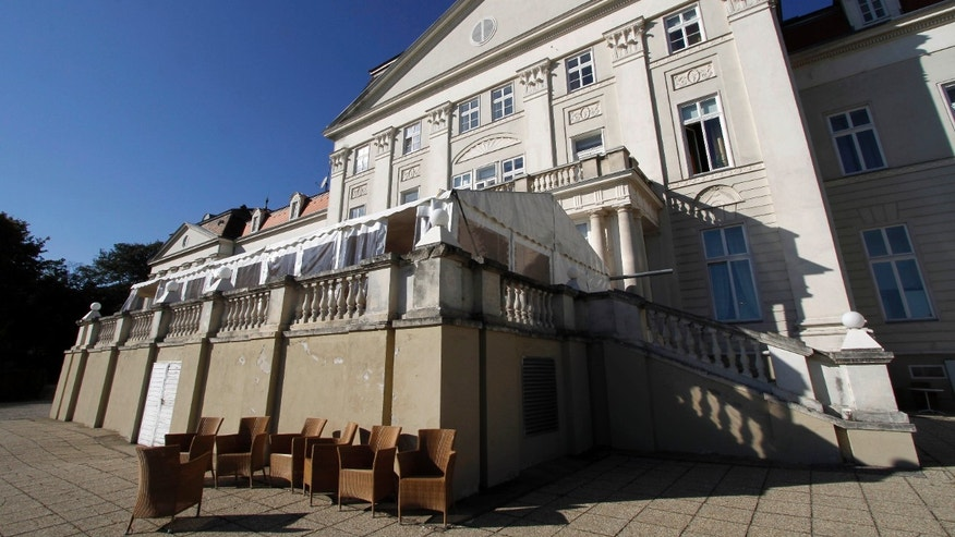 Oct. 17, 2011: Outside view of the former foster home Wilhelminenberg castle in Vienna, Austria. Municipal officials say an investigation will be launched into claims by two women who allege they and other girls at the Vienna foster home were systematically raped in the 1970s. The home was closed in 1977 and houses a hotel now.