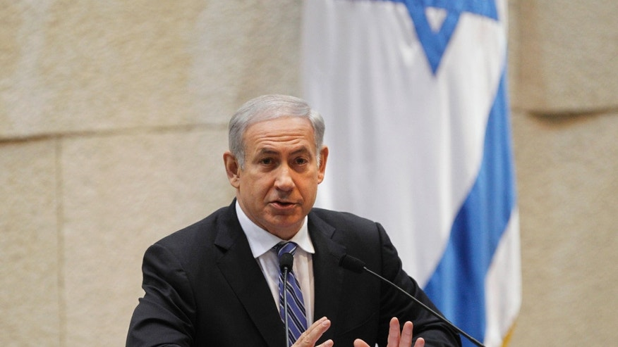 Nov. 2, 2011: Israeli Prime Minister Benjamin Netanyahu talks during a session of the Knesset, Israel's Parliament, in Jerusalem.