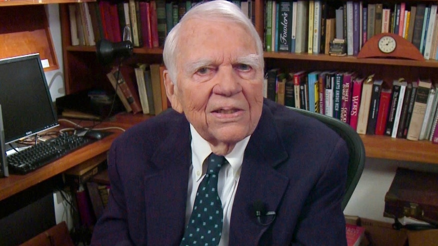 "FILE - In this Aug. 23, 2011 file image taken from video and provided by CBS, Andy Rooney tapes his last regular appearance on 60 Minutes in New York. CBS says former ""60 Minutes"" commentator Andy Rooney died Friday, Nov. 4, 2011 at age 92. (AP Photo/CBS) MANDATORY CREDIT; NO SALES; NO ARCHIVE; NORTH AMERICAN USE ONLY"