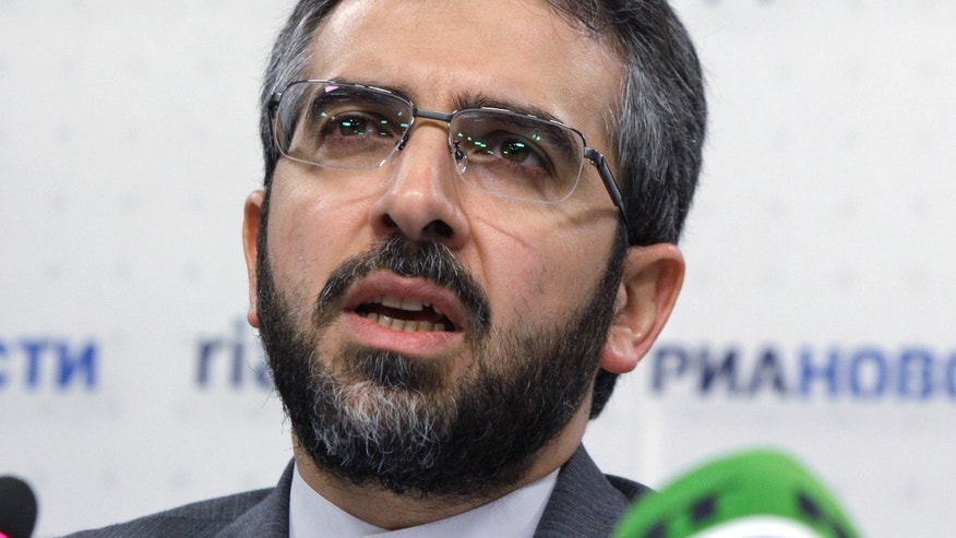 Nov. 10, 2011: Ali Baghiri, Deputy secretary General of the Iranian Supreme National Security Council speaks at a news conference in Moscow.