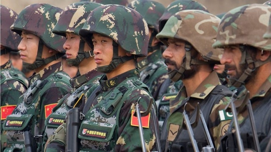 Nov. 24, 2011: Pakistan and Chinese soldiers take part in a joint exercise in Jhelum, Pakistan