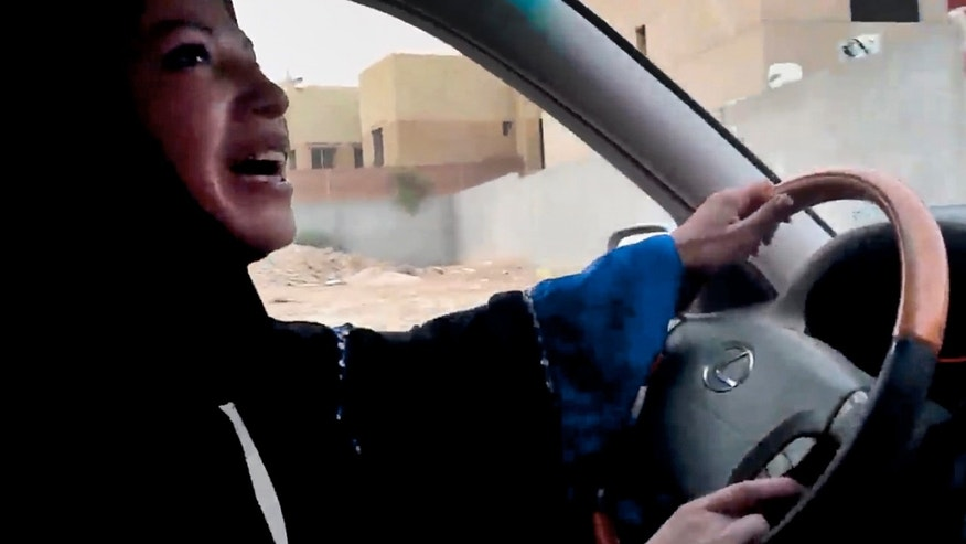 June 17, 2011: A Saudi Arabian woman drives a car as part of a campaign to defy Saudi Arabia's ban on women driving, in Riyadh, Saudi Arabia.
