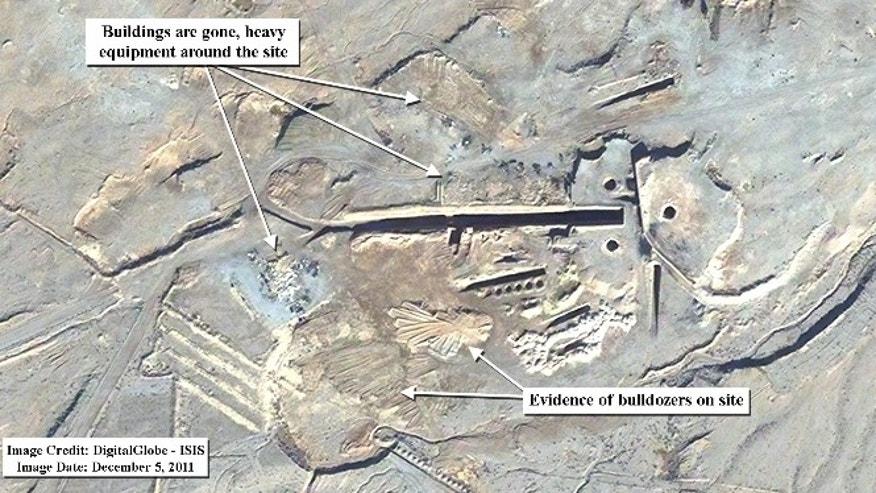 Dec. 3, 2011: Satellite image of the Uranium Conversion Facility, Zirconium Production Plant and entrances to a tunnel facility at the Isfahan nuclear site.