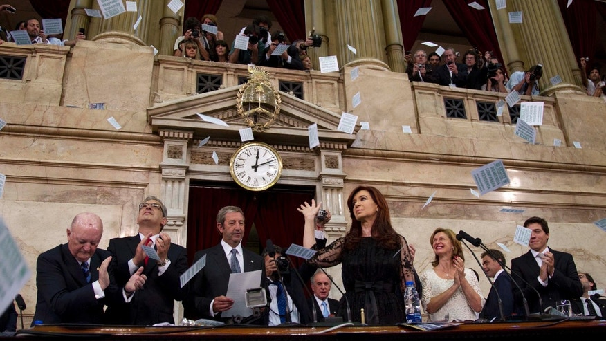 President Cristina Fernández de Kirchner opens a new session of the Argentinian Congress in 2011.