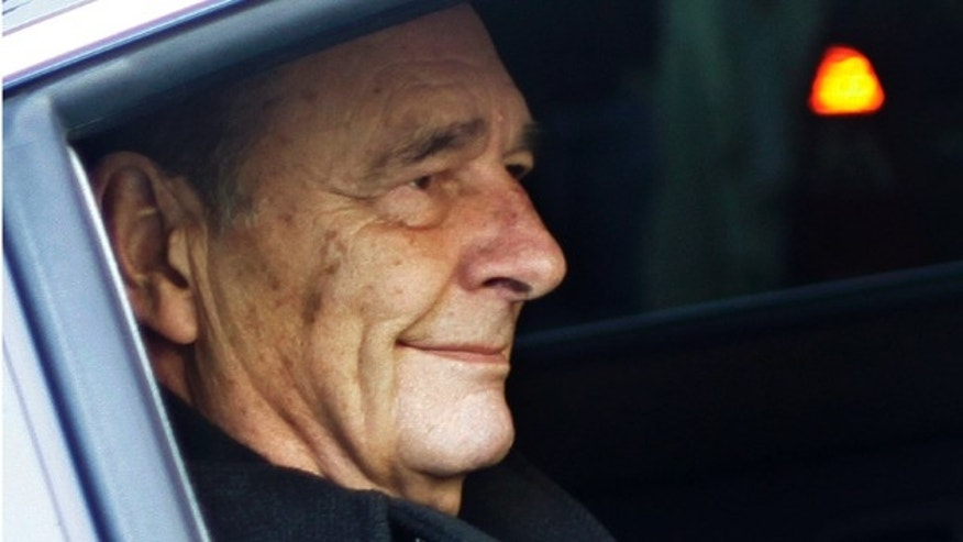 March 2011: French President Jacques Chirac leaving his home in a car.