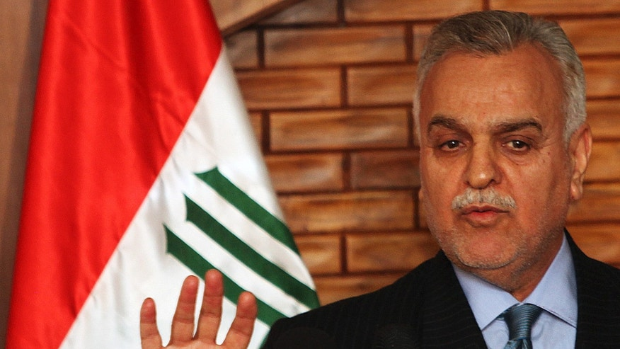 December 3, 2009: Iraq's vice President Tariq al-Hashemi speaks during a news conference in Baghdad, Iraq.  Iraq's Shiite-led government issued an arrest warrant for Vice President Tariq al-Hashemi, the country's highest ranking Sunni official, on alleged terrorism charges.