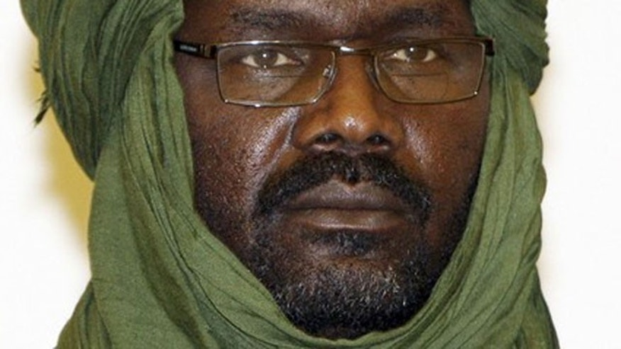 In this February 17, 2009 file photo Justice and Equality Movement (JEM) leader Khalil Ibrahim attends a news conference following peace talks in Doha. Sudan's armed forces claimed on December 25, 2011, to have killed Ibrahim.