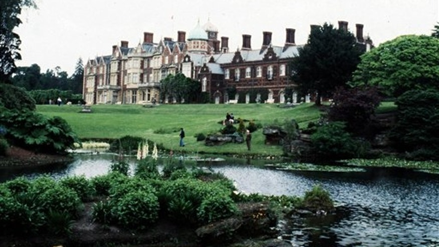 A 1978 file photo of Britain's Queen Elizabeth's Sandringham House in eastern England.