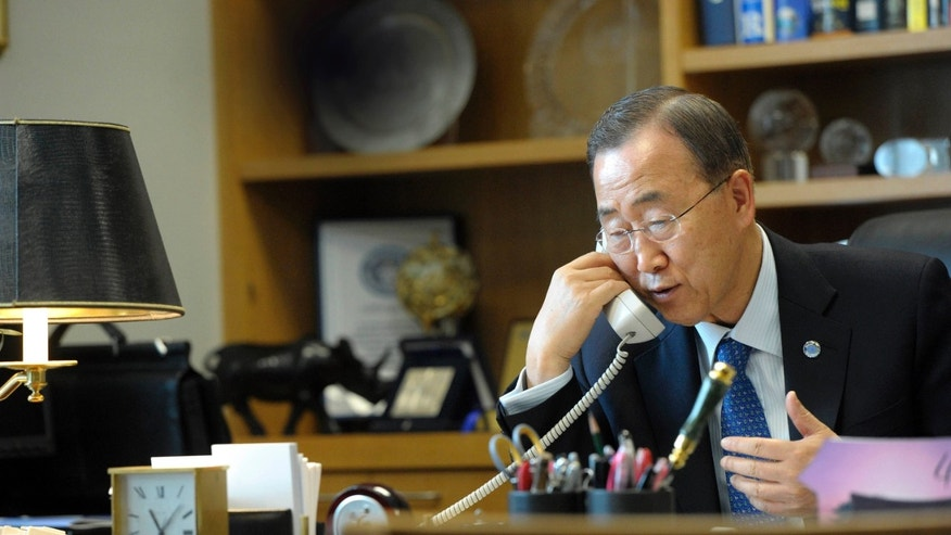 May 4, 2011: U.N. Secretary-General Ban Ki-moon.