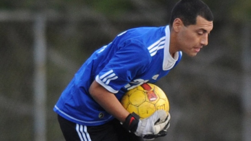 El Camino Real's goalkeeper Francisco Rodriguez, who was shot to death shortly after this game between two San Fernando Valley schools.