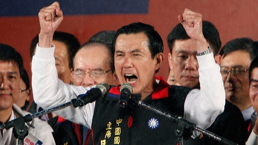 Jan. 14, 2012: Taiwanese President Ma Ying-jeou declares victory in the presidential election in Taipei, Taiwan. Ma won a close re-election fight, leveraging his message of greater prosperity through expanded ties with China to beat his populist-minded opponent, Tsai Ing-wen.