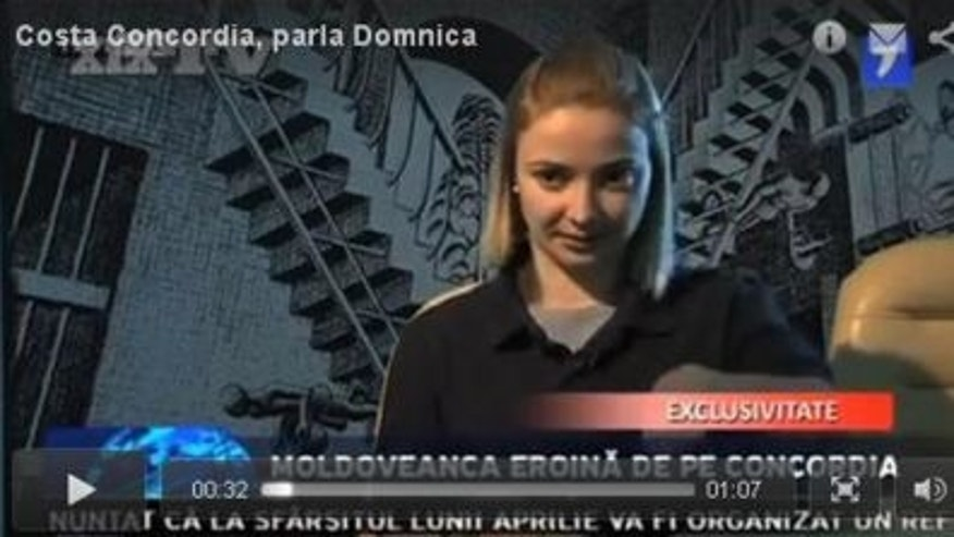 This image taken from Il Secolo's website reportedly shows 25-year-old Domnica Cemortan. The Moldovan woman is believed to have been the blonde female seen dining with Costa Concordia Capt. Francesco Schettino shortly before the ship crashed Friday night, according to the newspaper.