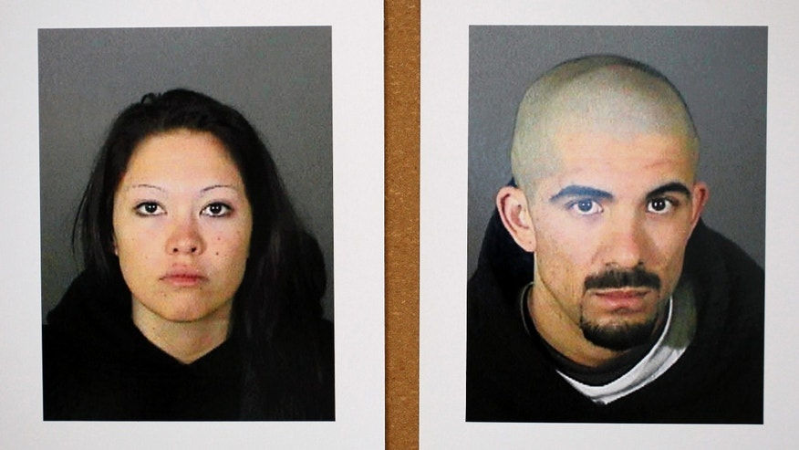 These photos released by the Los Angeles Police Department Tuesday, Jan. 17, 2012 show Elizabeth Ibarra, 19, and Jason Schuman, 24, who have been arrested in the slaying of El Camino Real High School soccer star Francisco Rodriguez. Rodriguez was lured outside his Los Angeles home and shot to death on Jan. 11. (AP Photo/Los Angeles Police Department)