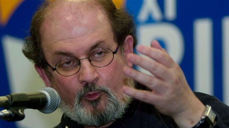 FILE 2003: Indian-born writer Salman Rushdie, author of 'The Satanic Verses' speaks at a book fair in Rio de Janeiro.