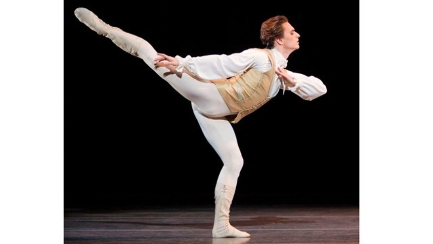 Thursday Jan 26 2011: Ukrainian dancer Sergei Polunin dances in the Royal Ballet production of Sleeping Beauty by Tchaikovsky in 2011 at the Royal Opera House, London. (AP PHOTO)