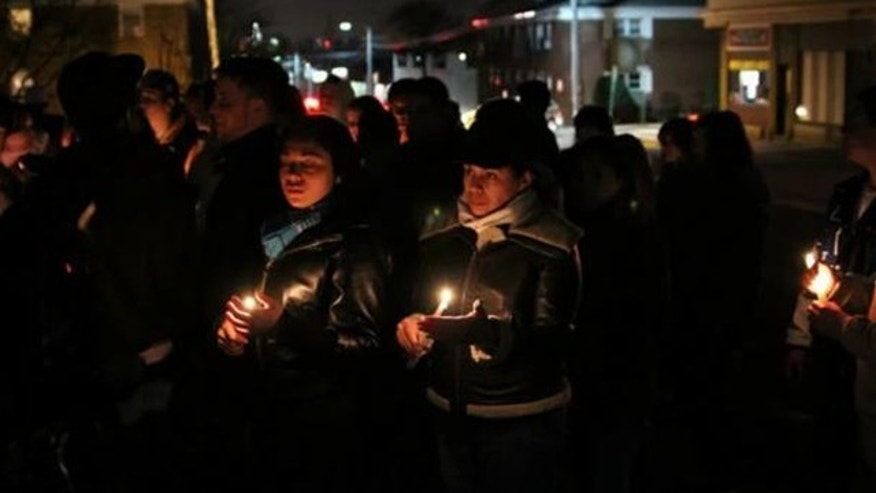 Hundreds of mourners attended a vigil for a fallen Marine from New Jersey. Ostrany Montes De Oca, 20, was killed in a combat operation in Afghanistan on Feb. 10. He joined the Marine Corps in 2010 with his twin brother.