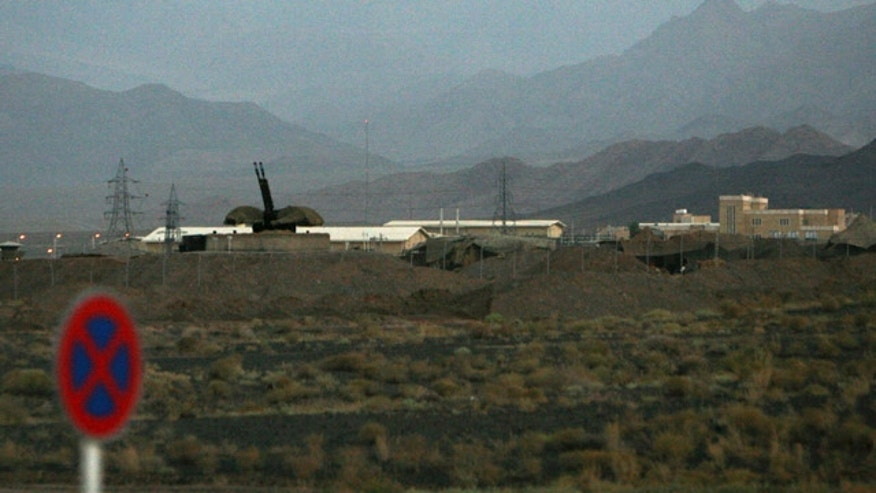 FILE 2007: An anti-aircraft gun position is seen at Iran's nuclear enrichment facility in Natanz, Iran.