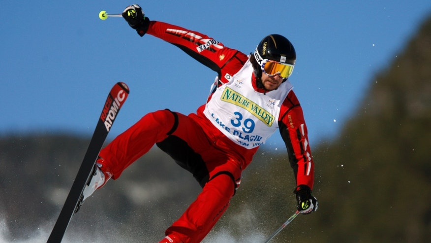 Jan. 23, 2010: Canada's Nick Zoricic practicing for the mens ski cross qualifying round during World Cup freestyle skiing in Wilmington, N.Y. Zoricic died from head injuries after crashing heavily in a World Cup skicross event in Grindelwald, Switzerland, on Saturday March 10, 2012.