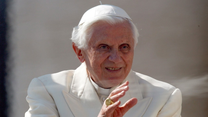 Pope Benedict XVI smiles during his weekly general audience in St. Peter's Square at the Vatican, Wednesday, March 7, 2012. (AP Photo/Alessandra Tarantino)