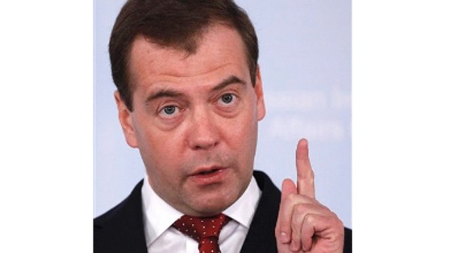 March 23, 2012: Russian President Dmitry Medvedev speaks at the Russian International Affairs Council in Moscow.