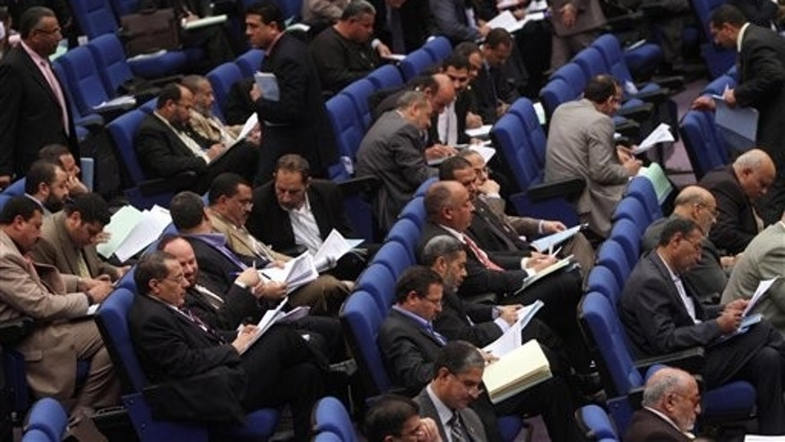 March 24: Members of Egypt's Parliament attend a session in Cairo, Egypt.