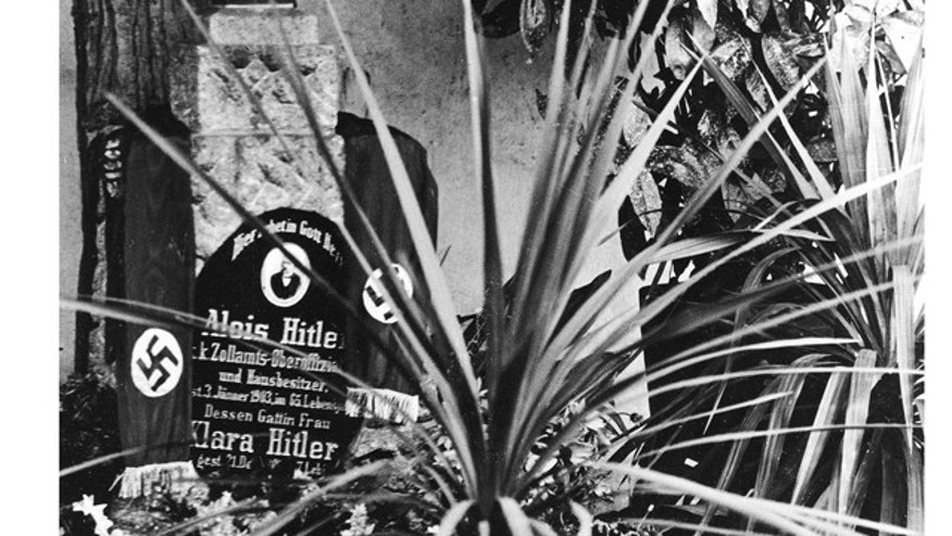 FILE - This undated file photo shows the grave of Alois and Klara Hitler, the parents of German Nazi Dictator Adolf Hitler, in Leonding near Linz, Austria.