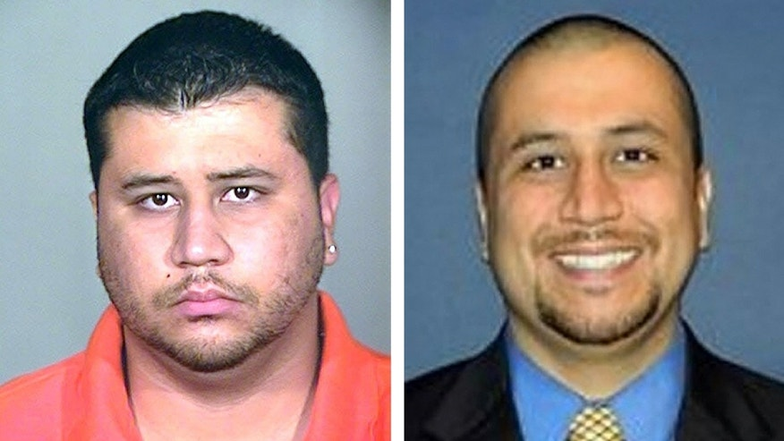 This photo combo shows George Zimmerman. At left is a 2005 booking photo provided by the Orange County Jail via The Miami Herald, and at right is an undated but recent photo of Zimmerman taken from the Orlando Sentinel&'s website.