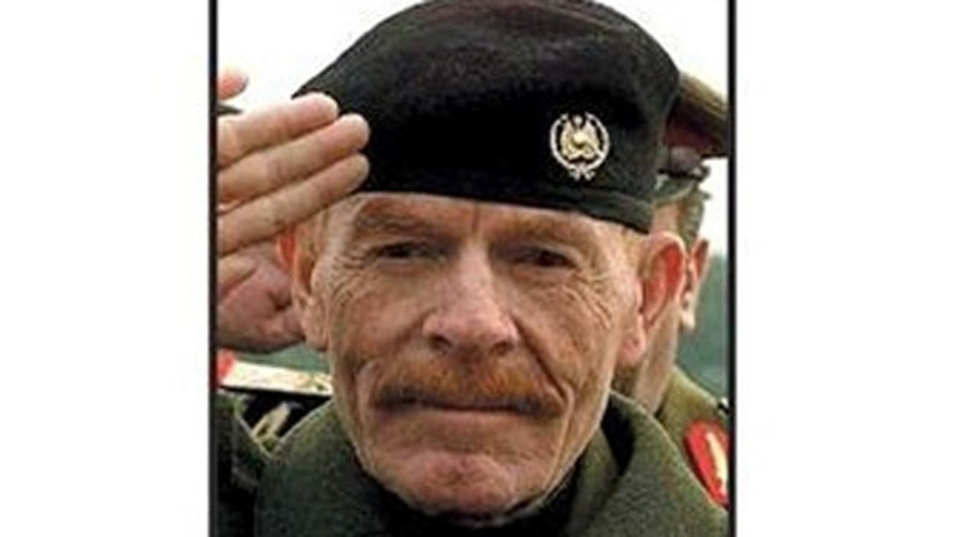 This photo undated file photo provided by the U.S. Army shows Izzat Ibrahim al-Douri  pictured on the deck of cards put out by the U.S. military to help capture the most wanted officials of Saddam Hussein's regime.