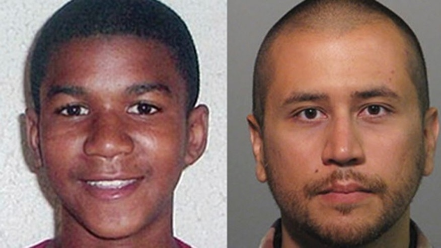 Trayvon Martin and George Zimmerman.