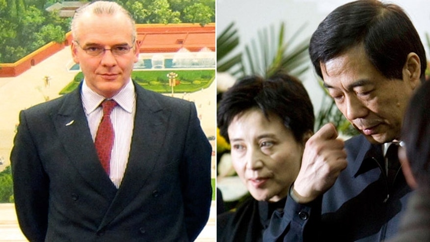 British businessman Neil Heywood, left, is suspected to have been murdered by Gu Kailai, middle, the wife of Chinese leader Bo Xilai, right.