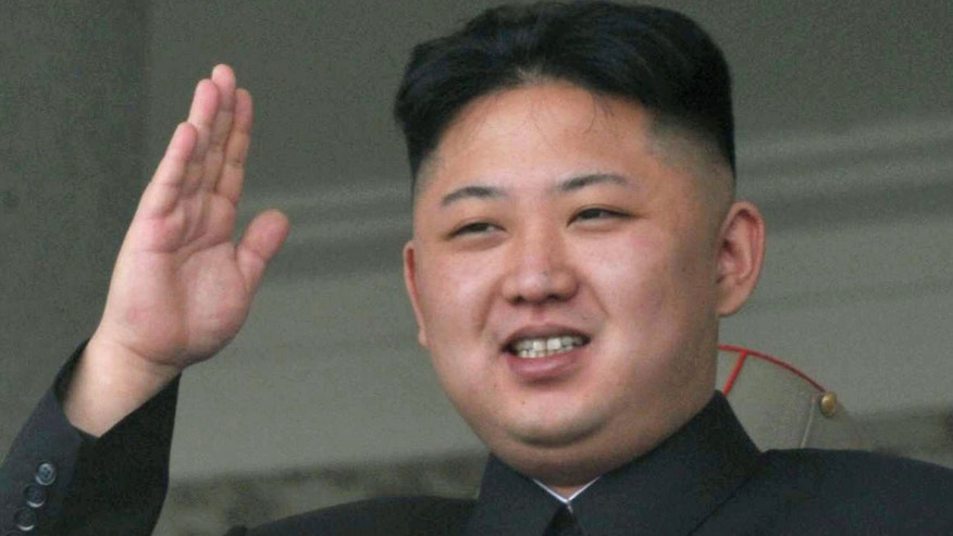 April 15, 2012: North Korean leader Kim Jong Un salutes during a mass military parade in the Kim Il Sung Square in Pyongyang to celebrate 100 years since the birth of the late North Korean founder Kim Il Sung.