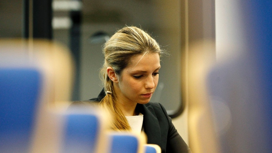 April 30: Eugenia Tymoshenko, daughter of jailed former Ukrainian Prime Minister Yulia Tymoshenko, prior to a press conference in Prague, Czech Republic.