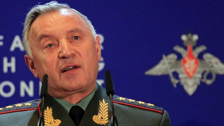 May 3, 2012: Chief of General Staff Nikolay Makarov speaks at Russian Ministry of Defense's Conference on Missile Defense in Moscow.