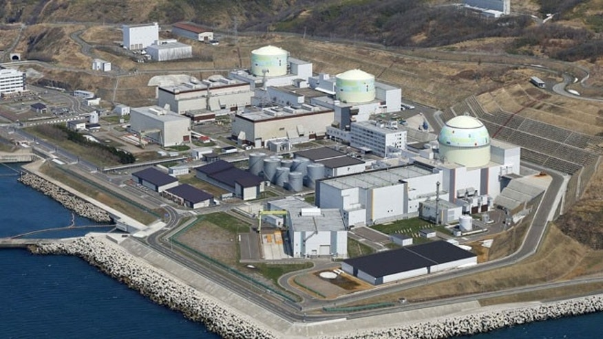 In this aerial photo taken April 22, 2012, three reactors, from left, No. 1, No. 2 and No. 3, are seen at the Tomari Nuclear Power Plant, operated by Hokkaido Electric Power Co., in Tomari in Japan's northernmost main island of Hokkaido.
