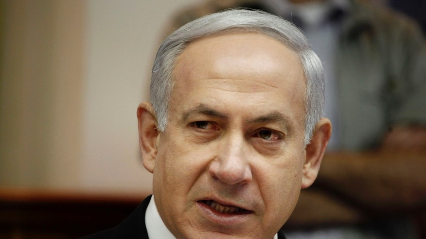 FILE: May 7, 2012: Israeli Prime Minister Benjamin Netanyahu chairs the weekly cabinet meeting at his Jerusalem office.