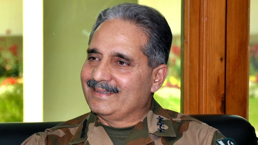May 7, 2012: The commander of Pakistan's forces along the frontier Lt. Gen. Khalid Rabbani smiles during an interview with The Associated Press in Peshawar, Pakistan.