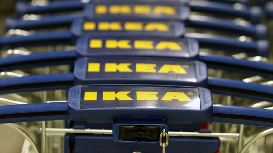 BERLIN, GERMANY - DECEMBER 13:  Ikea shopping carts stand in line during an opening ceremony at the 4th Ikea chain store in Berlin Lichtenberg on December 13, 2010 in Berlin, Germany. Ikea, a Swedish furniture and household goods company now has 46th chain stores in Germany, including the newly opened one in Berlin Lichtenberg, which is the biggest one in Germany.  (Photo by Andreas Rentz/Getty Images)