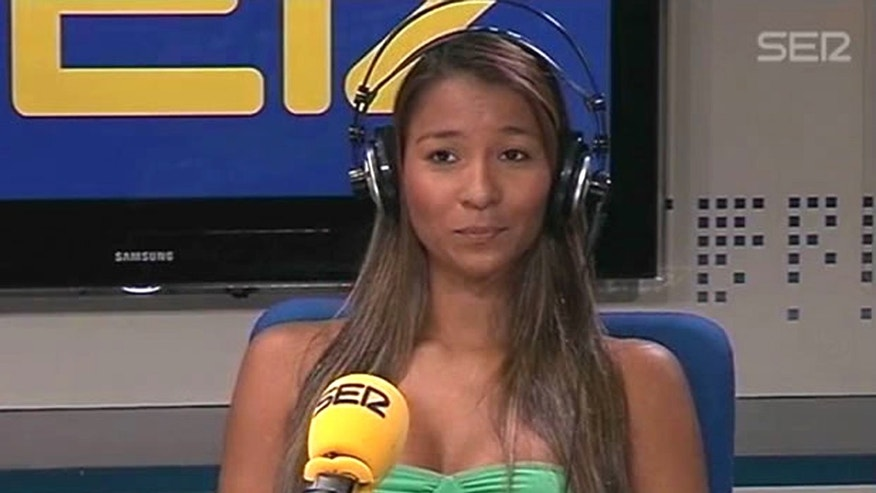 This Friday, May 4, 2012 frame grab taken from the Spanish radio station Cadena SER website shows Dania Londono Suarez during an interview at an undisclosed location. Nearly four weeks after the Secret Service prostitution scandal erupted, U.S. government investigators on Thursday, May 10, 2012, interviewed the Colombia prostitute at the center of the affair, which cost eight officers and supervisors their jobs and became an election-year embarrassment for the Obama administration. She voluntarily met with investigators at the U.S. Embassy in Madrid, agency spokesman Edwin Donovan said.  (AP Photo/Cadena SER)