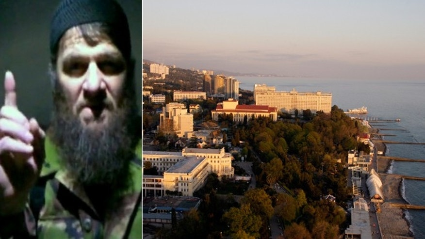 Russia's secret service agency FSB suspects Doku Umarov, shown left in an image taken from video and released Monday, Feb. 7, 2011 by The Kavkaz Center,  was the mastermind behind foiled terror attack plans on the Black Sea resort of Sochi, pictured right.