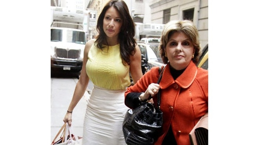 Debrahlee Lorenzana, left, with high-powered attorney Gloria Allred, in happier times.