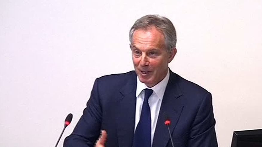 May 28, 2012: Former British Prime Minister between 1997 and 2007 Tony Blair is grilled on his relationship with the press and Rupert Murdoch at an inquiry into media ethics in central London.