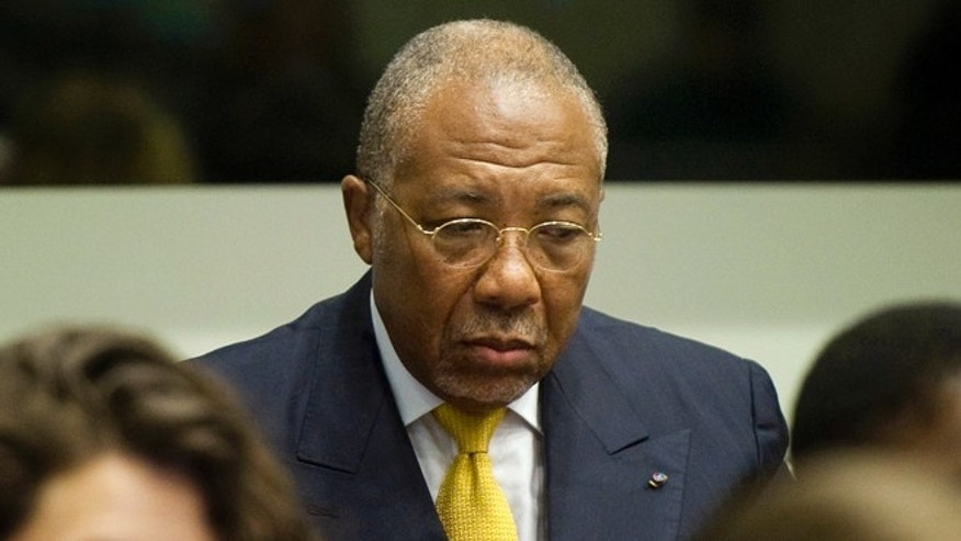May 30, 2012: Former Liberian President Charles Taylor waits for the start of his sentencing judgement in the courtroom of the Special Court for Sierra Leone(SCSL) in Leidschendam, near The Hague, Netherlands.