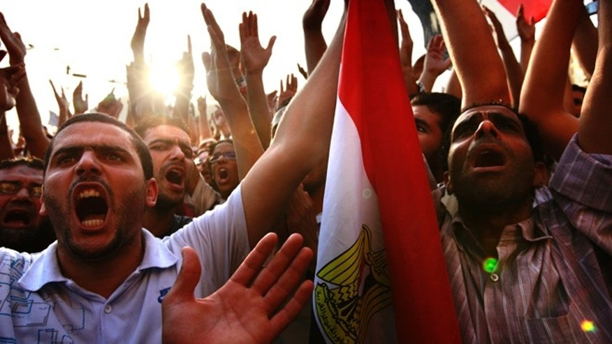 June 2, 2012: Egyptians gather at Tahrir Square in Cairo to call for a new revolution in Egypt.
