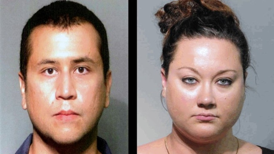 Left: George Zimmerman and his wife (Right) Shellie Zimmerman.